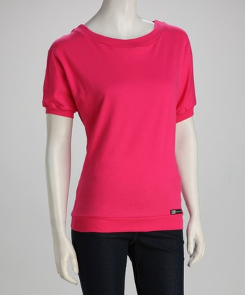 Pink Short-Sleeve Top