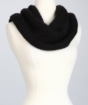Black The Sweet Heart Infinity Scarf