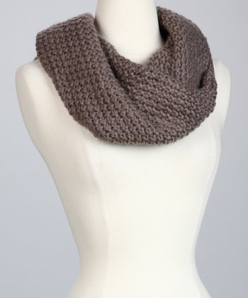 Taupe The Sweet Heart Infinity Scarf