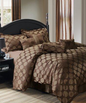 Brown Abbott Queen Comforter Set