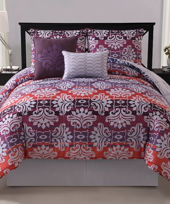 Magenta Addison Reversible Comforter Set