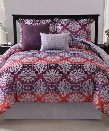 Magenta Addison Reversible Comforter Set