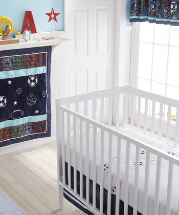 Navy Athletic Department Crib Bedding Set
