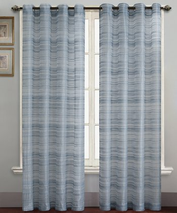 Blue Bryce Curtain Panel