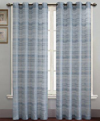 Blue Bryce Curtain Panel