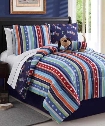 Leo Dog Reversible Full Comforter Set