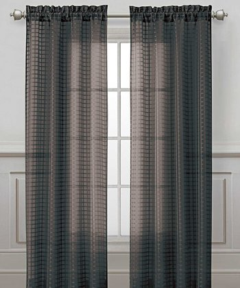 Black Drake Curtain Panel