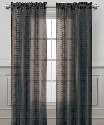 Black Drake Curtain Panel