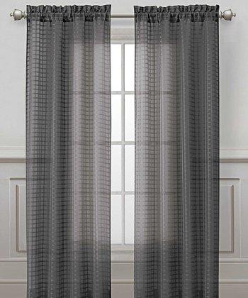 Charcoal Drake Curtain Panel