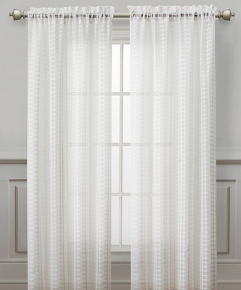 White Drake Curtain Panel