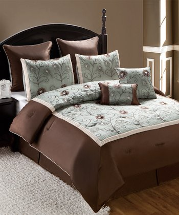 Blue Delaney Alex Queen Comforter Set