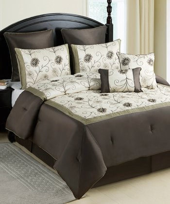 Green Delaney Alex Comforter Set