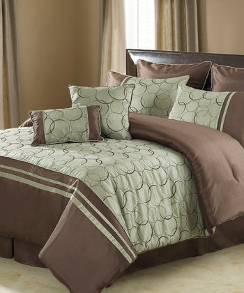 Green Daylan Comforter Set