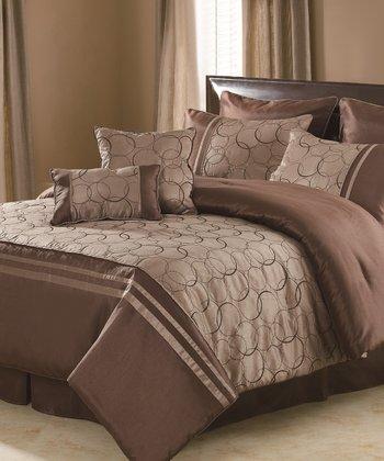 Taupe Daylan Comforter Set