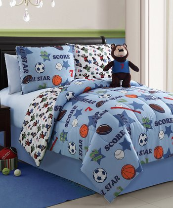 Brady Bear Reversible Comforter Set