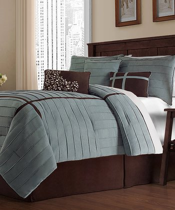 Blue Ellington Queen Comforter Set