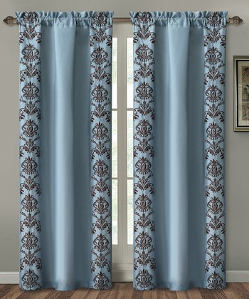 Blue Garwood Curtain Panel