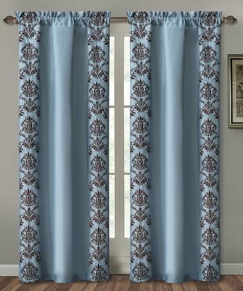 Blue Garwood Curtain Panel