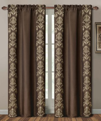 Chocolate Garwood Curtain Panel