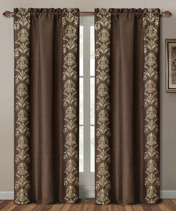Chocolate Garwood Curtain Panel