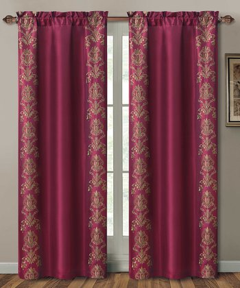 Red Garwood Curtain Panel