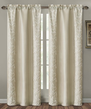 Taupe Garwood Curtain Panel