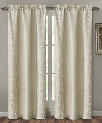 Taupe Garwood Curtain Panel
