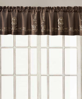 Chocolate Garwood Valance