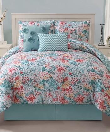 Turquoise Kayla Reversible Comforter Set