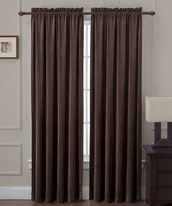 Chocolate Langdon Curtain Panel