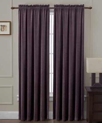 Plum Langdon Curtain Panel