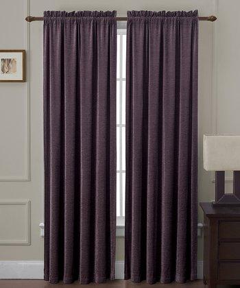 Plum Langdon Curtain Panel