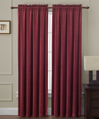 Red Langdon Curtain Panel