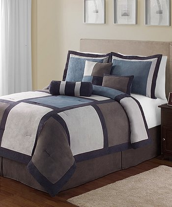 Blue Pinto King Comforter Set