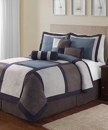 Blue Pinto King Comforter Set