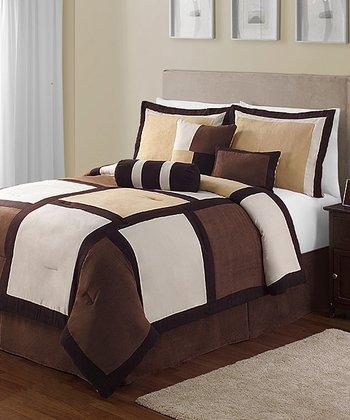 Brown Pinto King Comforter Set