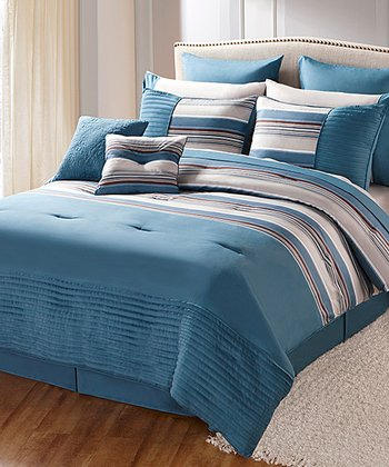Blue Sasha King Comforter Set