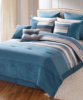 Blue Sasha King Comforter Set