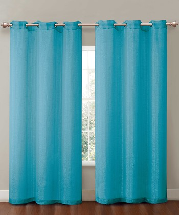 Aqua Sparkle Curtain Panel