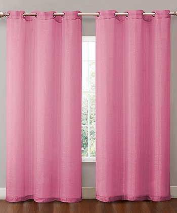 Hot Pink Sparkle Curtain Panel