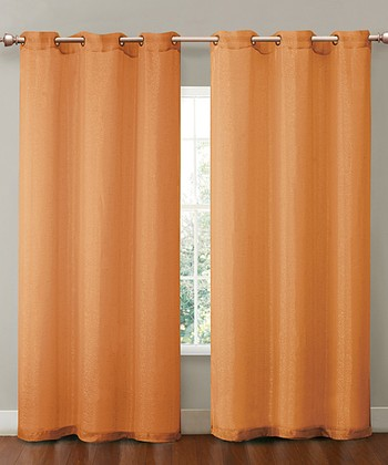 Orange Sparkle Curtain Panel