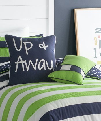 Blue & Green Up & Away Throw Pillow Set