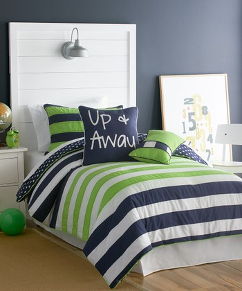 Blue & Green Up & Away Comforter Set