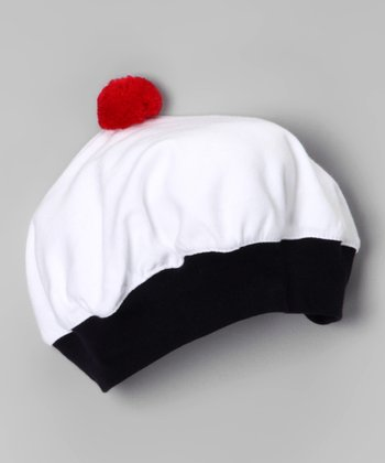 White & Red Cupcake Beanie