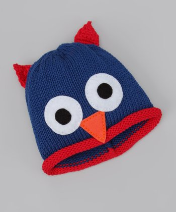 Royal Blue Owl Beanie
