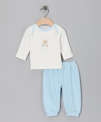 White 'Little Angel' Tee & Blue Pants - Infant