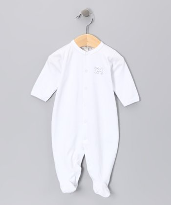 White Butterfly Footie - Infant