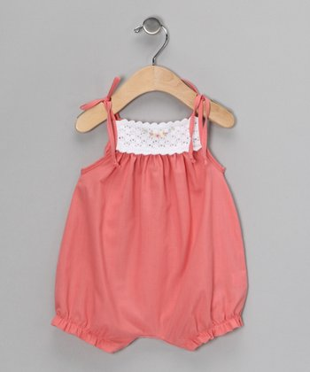 Dark Peach Romper - Infant