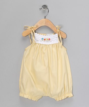 Yellow Crocheted Bubble Romper - Infant