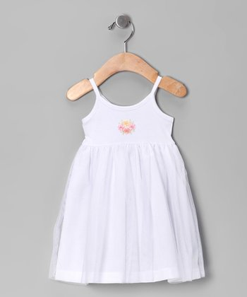White Tulle Flower Dress - Infant, Toddler & Girls